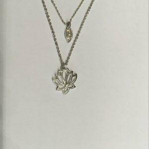 zilveren halsketting met, fiell